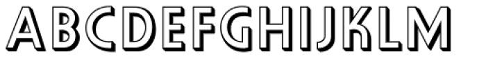 Orplid Pro Shadow Font LOWERCASE