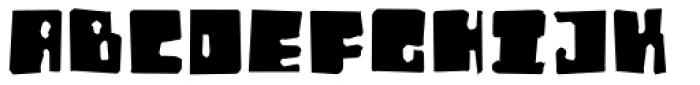 Orthotopes Eroded Font UPPERCASE