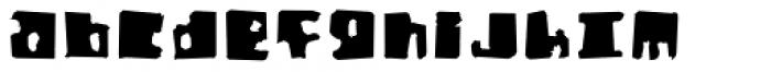Orthotopes Eroded Font LOWERCASE