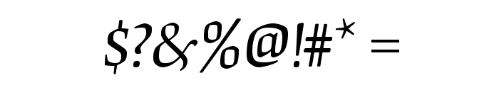 OrigamiStd-Italic Font OTHER CHARS