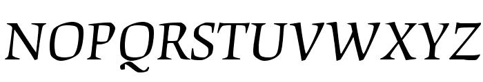 OrigamiStd-Italic Font UPPERCASE