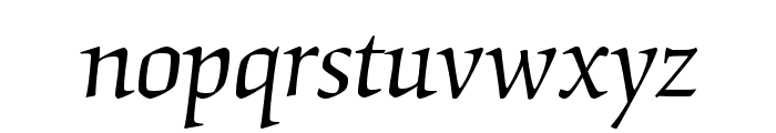 OrigamiStd-Italic Font LOWERCASE