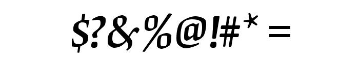 OrigamiStd-MediumItalic Font OTHER CHARS