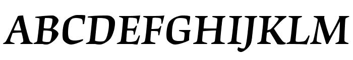 OrigamiStd-MediumItalic Font UPPERCASE