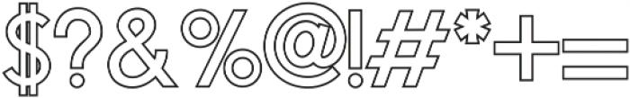 Osaka Outline Offset ttf (400) Font OTHER CHARS