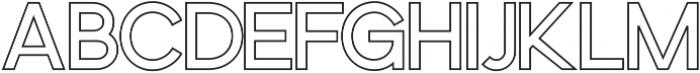Osaka Outline Offset ttf (400) Font LOWERCASE