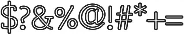 Osgood Slab Outline otf (700) Font OTHER CHARS