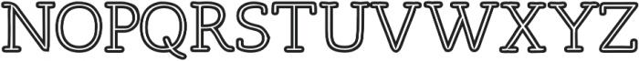 Osgood Slab Outline otf (700) Font UPPERCASE