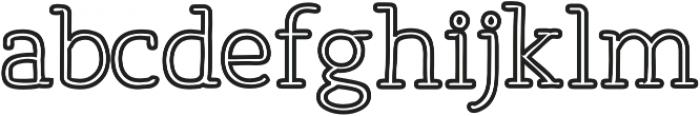 Osgood Slab Outline otf (700) Font LOWERCASE