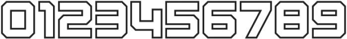 Osmica Bold Outline otf (700) Font OTHER CHARS