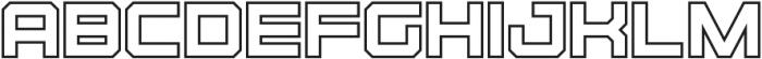Osmica Bold Outline otf (700) Font UPPERCASE
