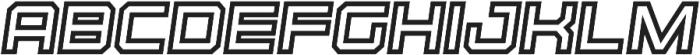Osmica Extra Bold Italic Inline otf (700) Font LOWERCASE