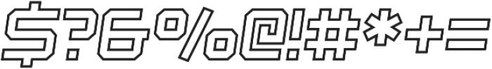 Osmica Extra Light Italic Outline otf (200) Font OTHER CHARS