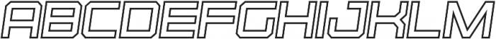 Osmica Extra Light Italic Outline otf (200) Font UPPERCASE