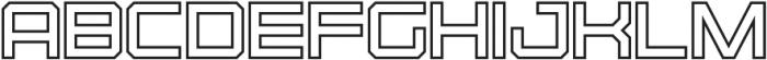 Osmica Extra Light Outline otf (200) Font UPPERCASE