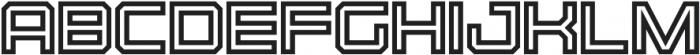 Osmica Regular Inline otf (400) Font UPPERCASE