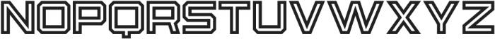 Osmica Regular Inline otf (400) Font LOWERCASE