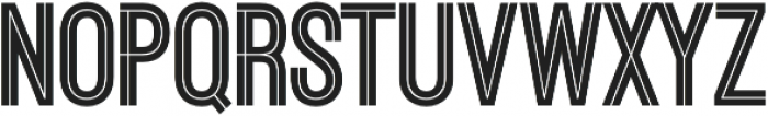 Ostrich Proper Inline Open otf (400) Font UPPERCASE