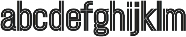 Ostrich Proper Inline Open otf (400) Font LOWERCASE