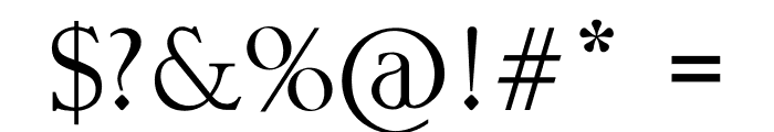 OSWALD Font OTHER CHARS