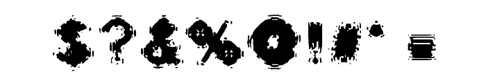 Oscillate Regular Font OTHER CHARS