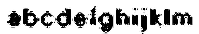 Oscillate Regular Font LOWERCASE