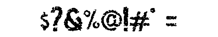 Osgiliath Noise Font OTHER CHARS