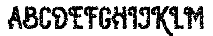 Osgiliath Noise Font UPPERCASE
