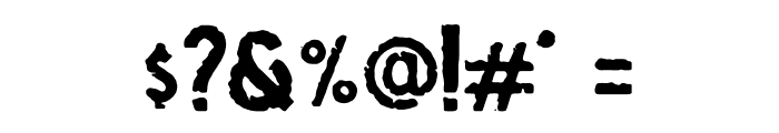 Osgiliath Rough Font OTHER CHARS