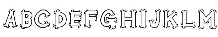 Oshare-Honenuki Font UPPERCASE