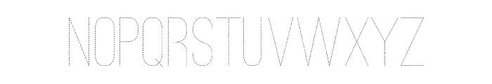 Ostrich Sans Dashed Medium Font UPPERCASE