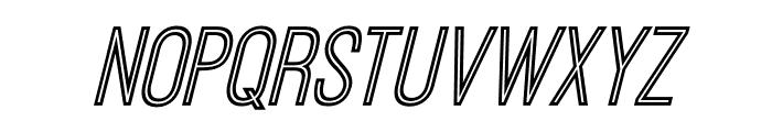 OstrichSansInline-Italic Font LOWERCASE