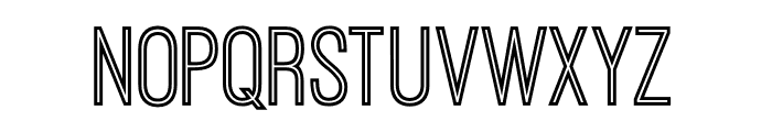 OstrichSansInline Font LOWERCASE