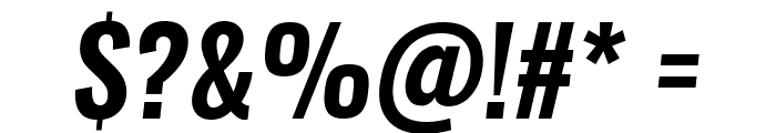 Oswald Demi-BoldItalic Font OTHER CHARS