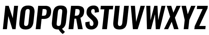 Oswald Demi-BoldItalic Font UPPERCASE