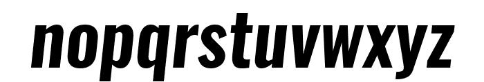 Oswald Demi-BoldItalic Font LOWERCASE