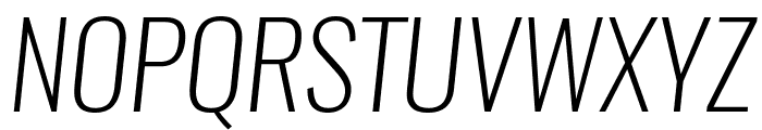 Oswald Extra-LightItalic Font UPPERCASE