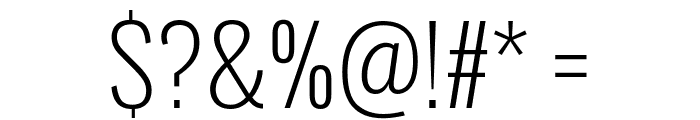 Oswald ExtraLight Font OTHER CHARS