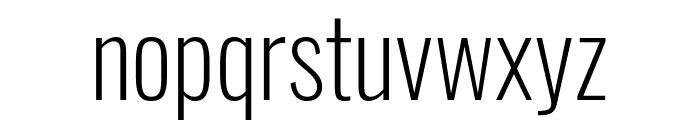Oswald ExtraLight Font LOWERCASE