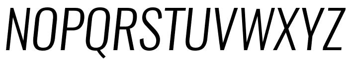 Oswald LightItalic Font UPPERCASE