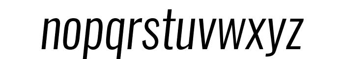 Oswald LightItalic Font LOWERCASE