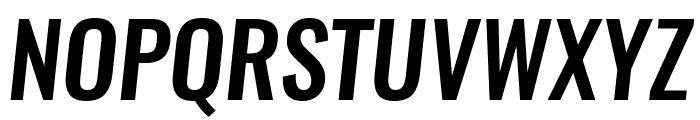 Oswald MediumItalic Font UPPERCASE