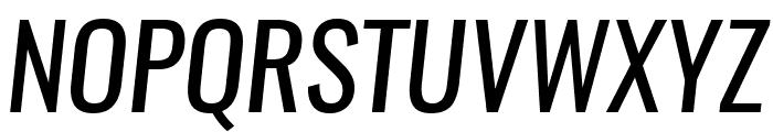 Oswald RegularItalic Font UPPERCASE