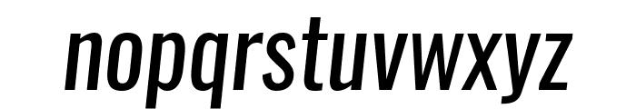 Oswald RegularItalic Font LOWERCASE