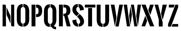 Oswald Stencil Bold Font UPPERCASE