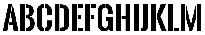 Oswald Stencil Bold Font LOWERCASE