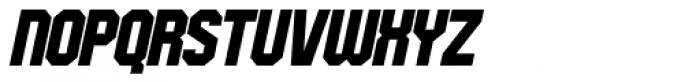 Oscar Bravo Blank Italic Font UPPERCASE