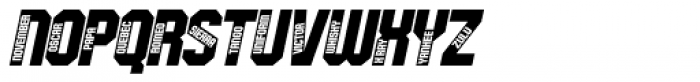 Oscar Bravo Italic Font UPPERCASE
