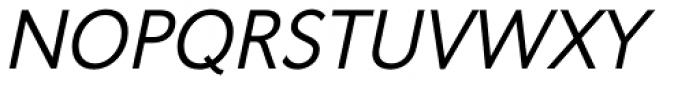 Oslo Italic Font UPPERCASE