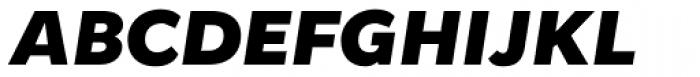 Osnova Pro Heavy Italic Font UPPERCASE